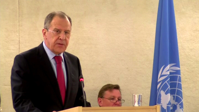 Russian option to send troops is only to protect human rights - Lavrov