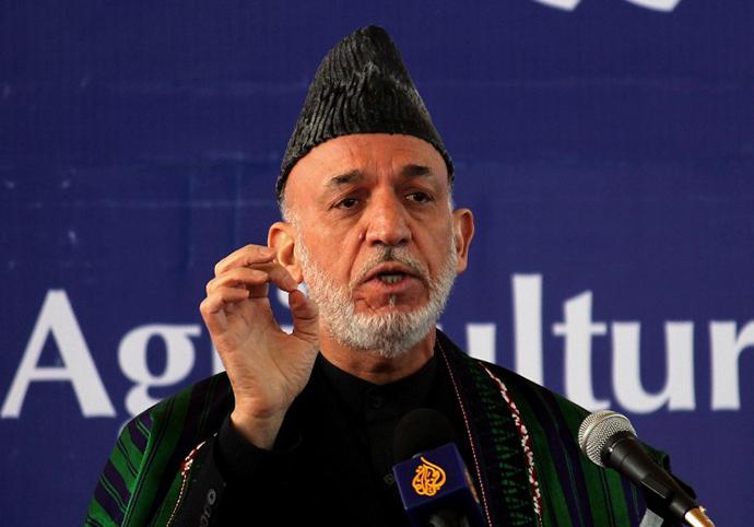 Afghan president Hamid Karzai (AFP Photo / Javed Tanveer)
