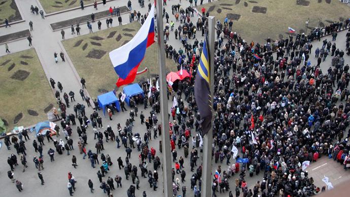 Anti-Maidan protesters storm regional govt building in Donetsk
