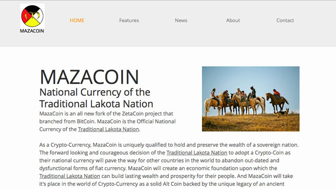 Lakota nation adopts MazaCoin crypto-currency as legal tender