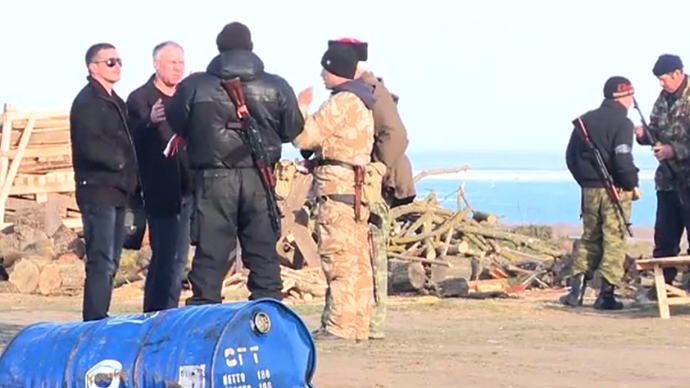 OSCE military observer mission en route to Crimea