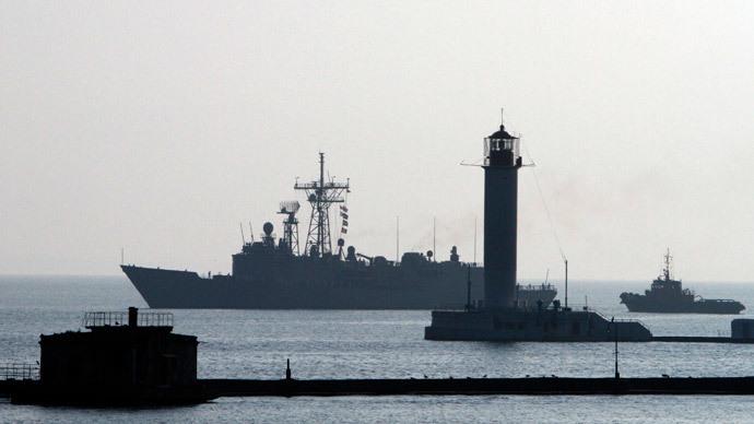 The US Navy Warship USS Taylor.(Reuters / Yevgeny Volokin)