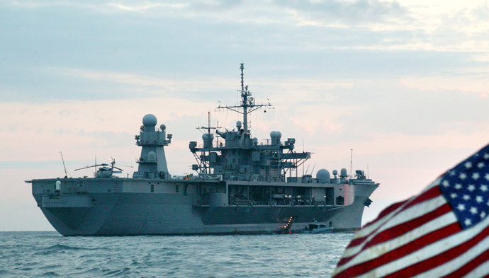 USS Mount Whitney.(AFP Photo / Seiran Baroian)