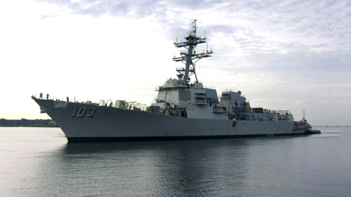US navy confirms missile destroyer USS Truxtun approaching the Black Sea