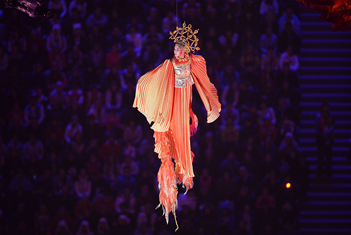 Performer takes part in the opening ceremony of the 2014 Paralympic Winter Games in Sochi, March 7, 2014. (RIA Novosti)