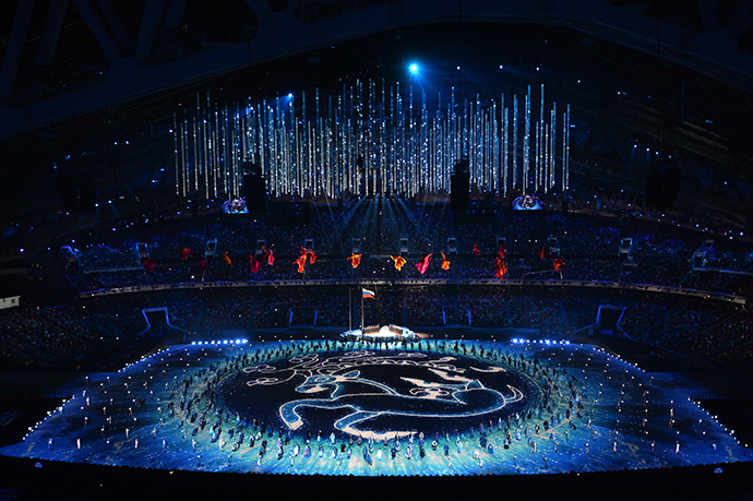Performers take part in the opening ceremony of the 2014 Paralympic Winter Games in Sochi, March 7, 2014. (RIA Novosti)