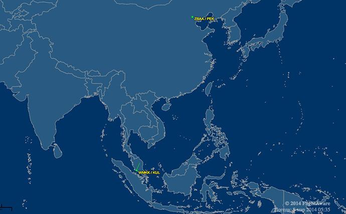 Image from flightaware.com
