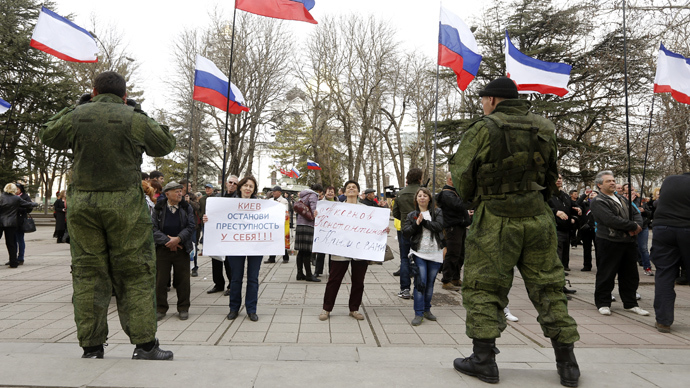 Witnesses at Crimea base: 'No fighting or shooting like reported on TV'