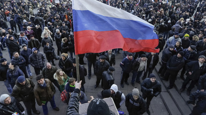 Putin defends Crimean referendum legitimacy to EU leaders as Ukraine's southeast rallies