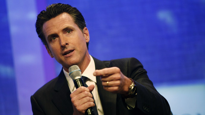 Gavin Newsom, Lieutenant Governor of the State of California (Reuters/Allison Joyce)