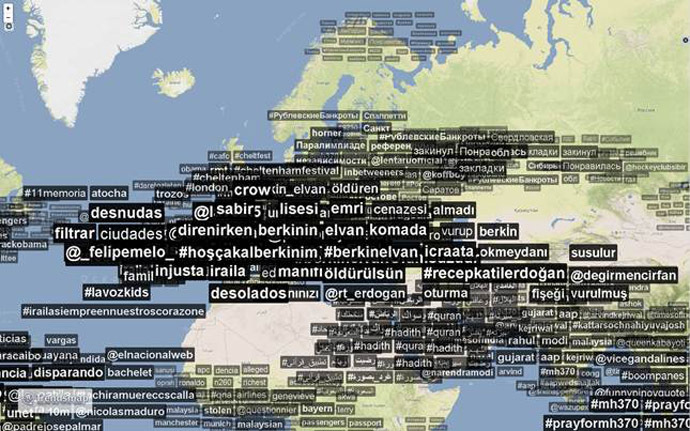Screenshot from trendsmap.com