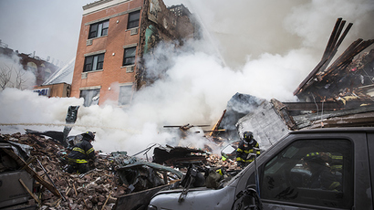 Building collapses in Kansas City after stolen SUV slams into it (VIDEO)