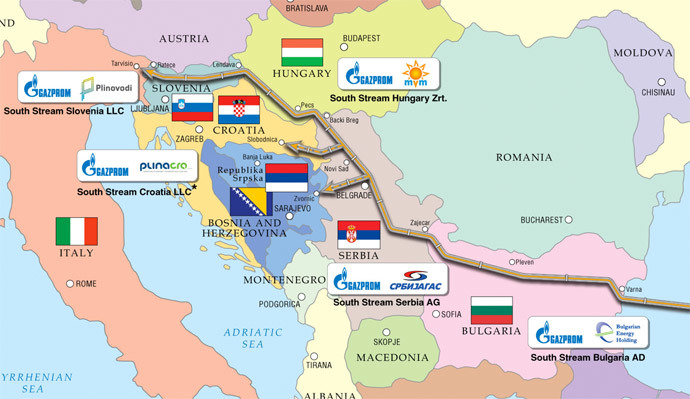 South Stream.(Image from www.gazprom.com)