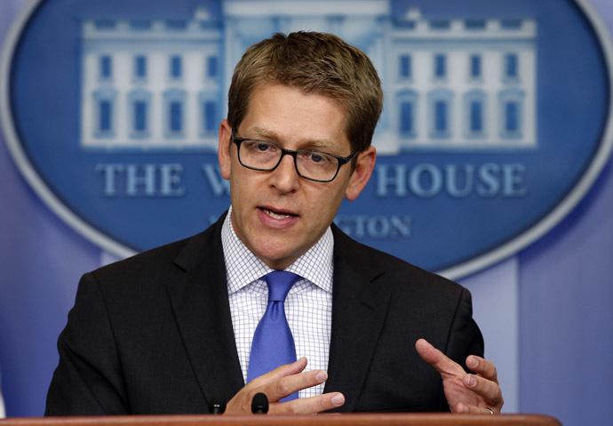 White House Press Secretary Jay Carney (Reuters/Kevin Lamarque)