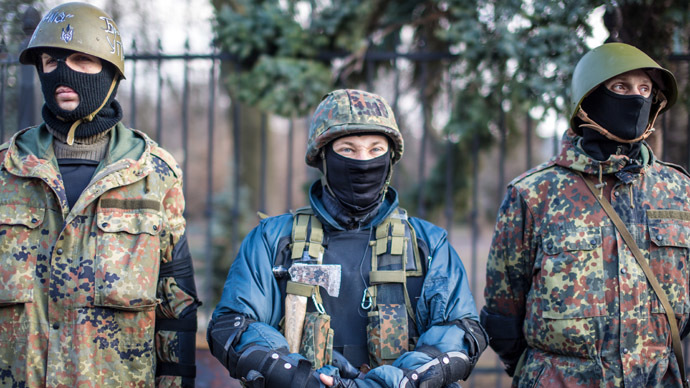 ​Maidan 'veterans' walk free after storming Kiev bank