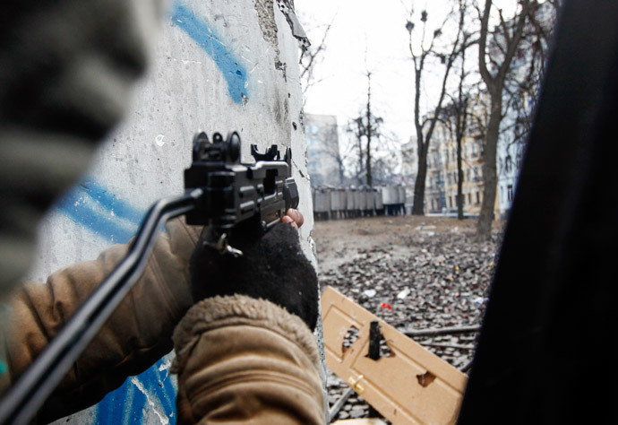 Kiev, January 20, 2014.(Reuters / U.S. Coast Guard)