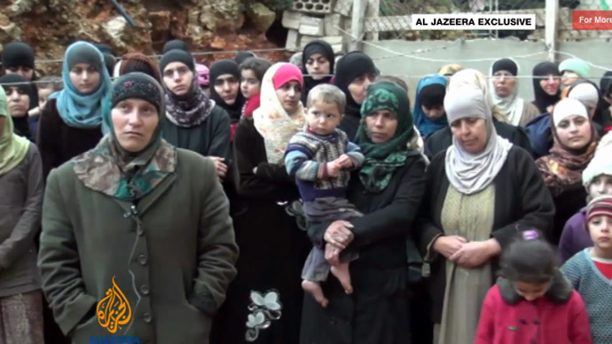 Syrian Sunni rebels claim they hold 94 Alawites hostage - footage