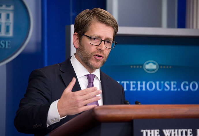 White House spokesman Jay Carney (AFP Photo / Nicholas Kamm)
