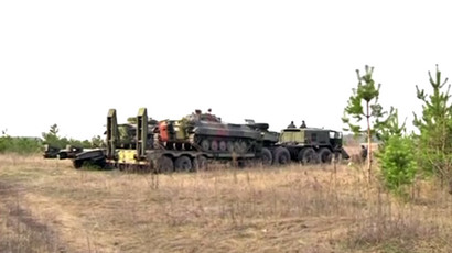 Tensions rise as Ukraine's military hardware pulls up to eastern border with Russia