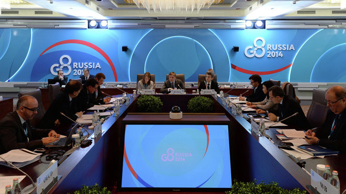 French FM Fabius: Russia's participation in G8 meetings suspended