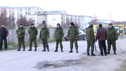 Crimea protesters storm Ukrainian Navy base in Sevastopol