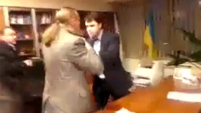 Ukrainian nationalists block RT YouTube video of brutal assault on TV chief
