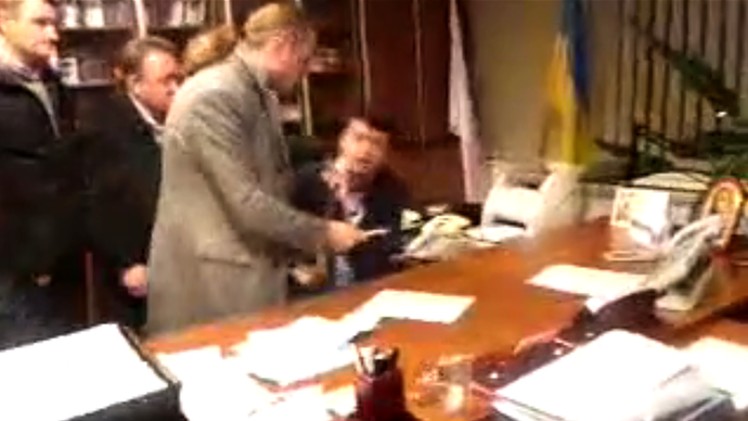 Still from video by Svoboda Party