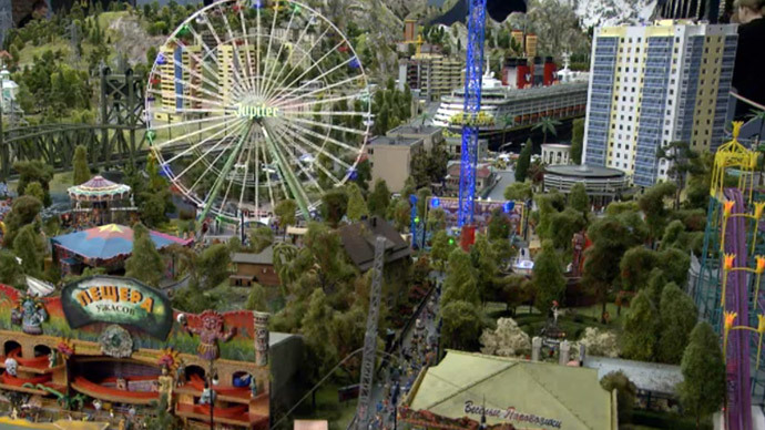 World's largest country on just 800m2: Amazing 'Tiny Russia' model that will stun you