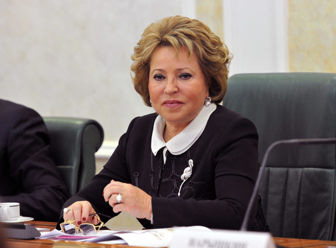 Valentina Matviyenko, head of the Russian Federation Council (upper house of parliament) (RIA Novosti/Sergey Kuznecov)