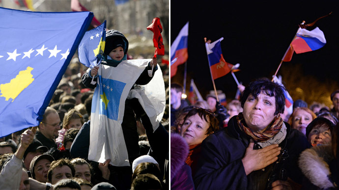 Facts only: Kosovo vs Crimea - 'Good Independence' vs 'Bad Referendum'