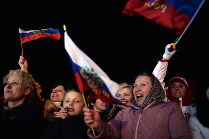 Residents of Sevastopol attend a concert after the referendum on the status of Crimea. (RIA Novosti / Valeriy Melnikov)