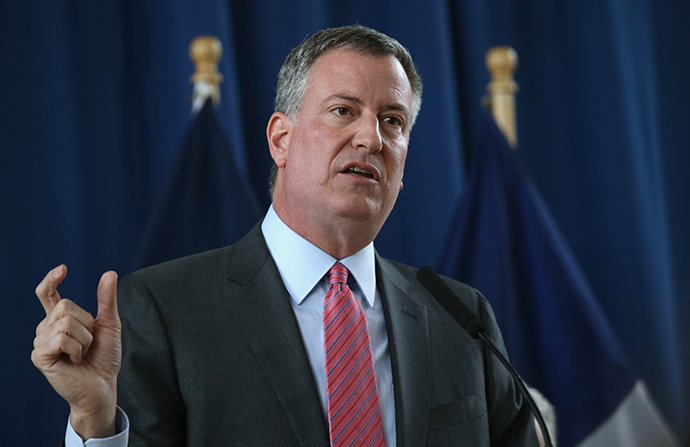 New York City Mayor Bill de Blasio (AFP Photo / John Moore)
