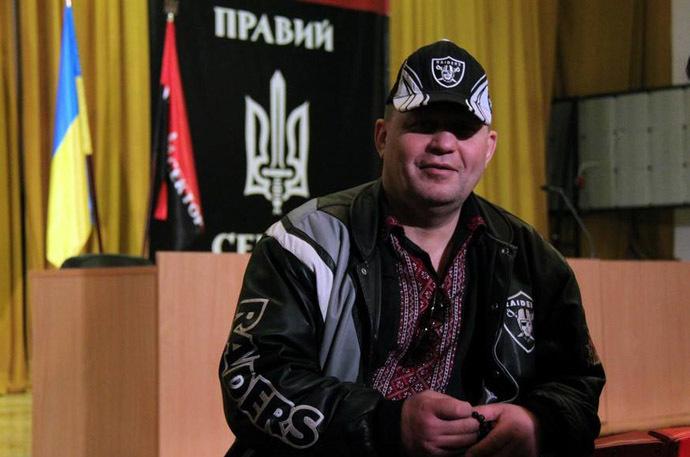 Right Sector neo-Nazi coordinator Aleksandr Muzychko.