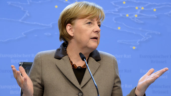 Merkel not ready to back economic sanctions against Russia