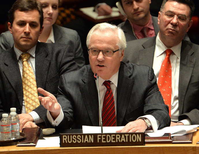 Vitaly Churkin, Russia's Ambassador to the United Nations (AFP Photo / Stan Honda)