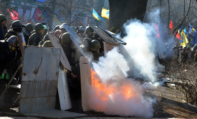 Kiev on February 18, 2014. (AFP Photo / Sergei Supinsky)