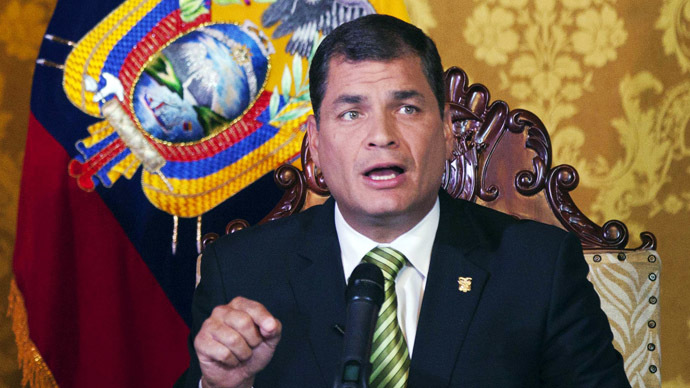 Ecuador does not recognize Ukraine's 'illegitimate' govt - Correa