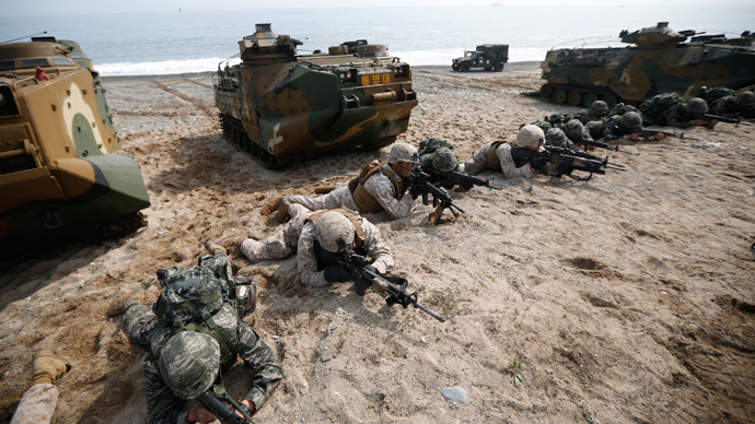 North & South Korea exchange artillery fire across sea border