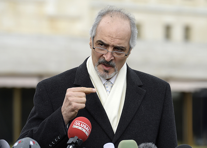 Syria's permanent representative at the United Nations Bashar al-Jaafari (AFP Photo / Philippe Desmazes)