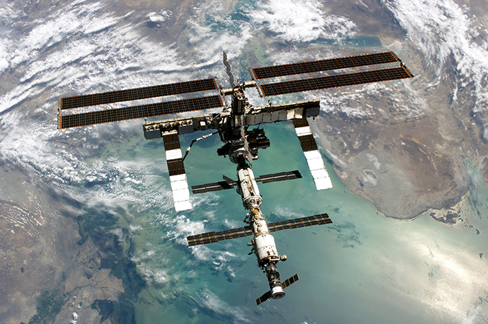 This NASA image shows the International Space Station (AFP Photo / NASA)