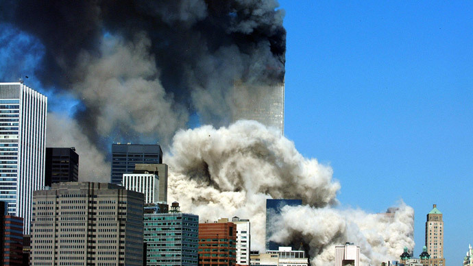 This 11 September, 2001 file photo shows smoke billowing up after the first of the two towers of the World Trade Center collapses in New York City.(AFP Photo / Henny Ray Abrams)