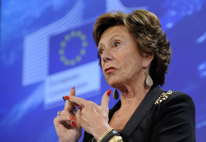 EU commissioner for Digital Agenda Neelie Kroes (AFP Photo)