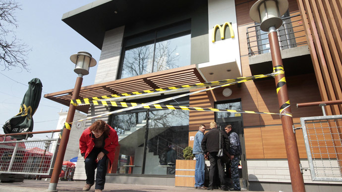 Not 'lovin' it' in Crimea: McDonald's suspends operations for 'manufacturing reasons'
