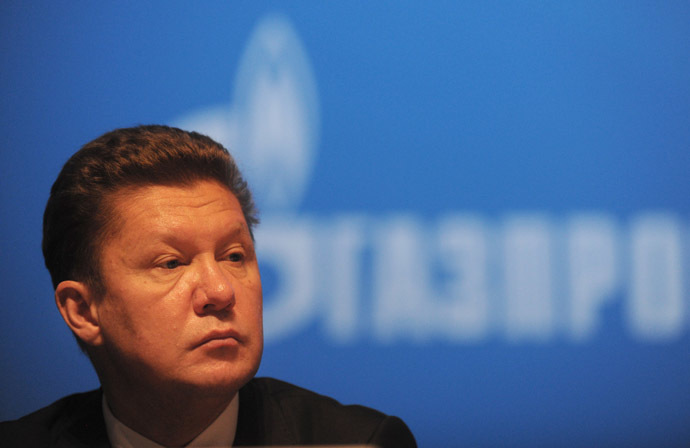 Russia's gas giant Gazprom CEO, Alexei Miller (AFP Photo)