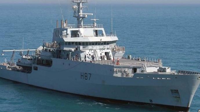 British naval ship HMS Echo