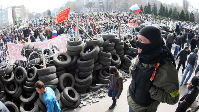 Clashes in Ukraine's Kharkov after protesters proclaim region's independence