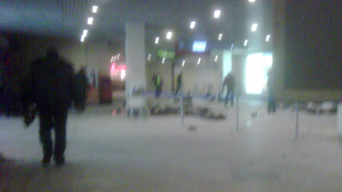 The arrival area at Domodedovo airport shortly after the blast.(RIA Novosti / Valeriy Yarmolenko)