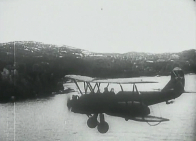 Soviet Po-2 biplane flies along the Crimean coast near Kerch (Still from YouTube video/user khodakovsky)