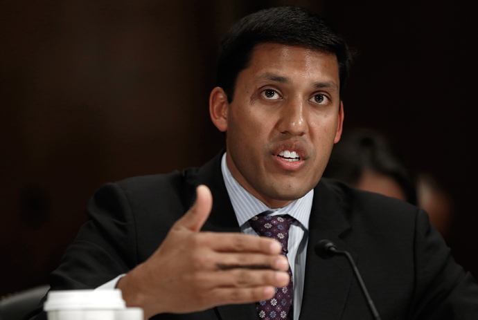 Rajiv Shah, administrator of the U.S. Agency for International Development (USAID), testifies before a subcommittee of the Senate Appropriations Committee April 8, 2014 in Washington, DC (AFP Photo / Win McNamee)