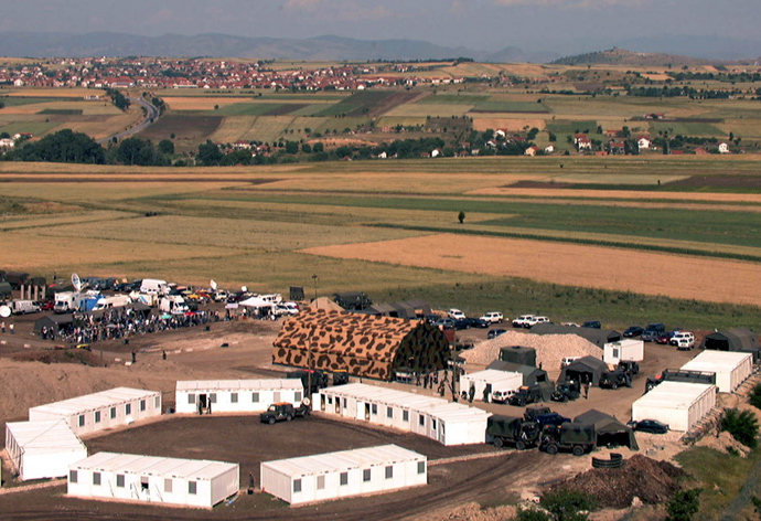 Aerial view of French NATO base in Kumanovo, Macedonia (Reuters / LB)